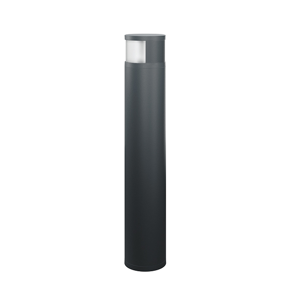BOLLARD ALVA 180° 940 / 170 16W 4000K ANTH. MILKY ON/OFF